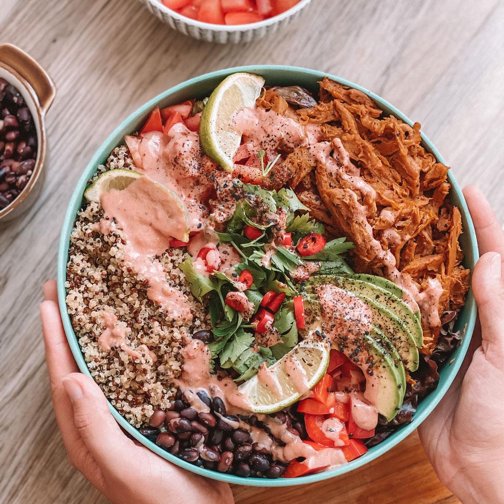 Leckeres veganes Gericht